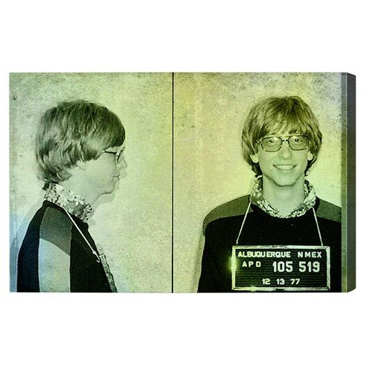 Oliver Gal ''Bill Gates Mugshot'' Graphic Art on Canvas