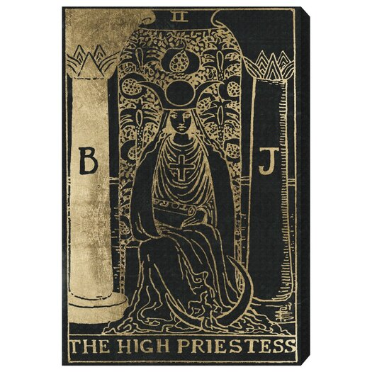 The High Priestess Tarot Graphic Art on Wrapped Canvas