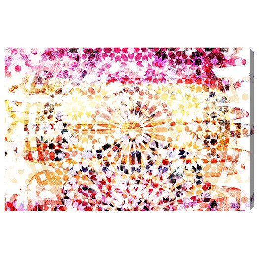 Peach Dunes Graphic Art on Wrapped Canvas