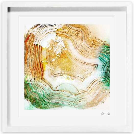 Butter Agate Framed Painting Print