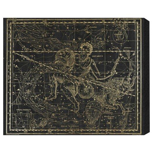Aquarius and Capricornius Graphic Art on Canvas