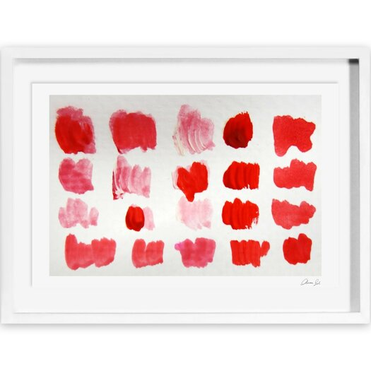 That Shade of Red Framed Painting Print