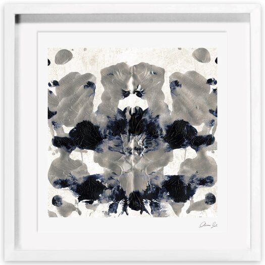 Energy in Silver Framed Painting Print