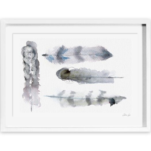 Plumes Framed Painting Print