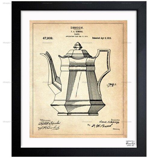 Teapot 1915 Framed Painting Print