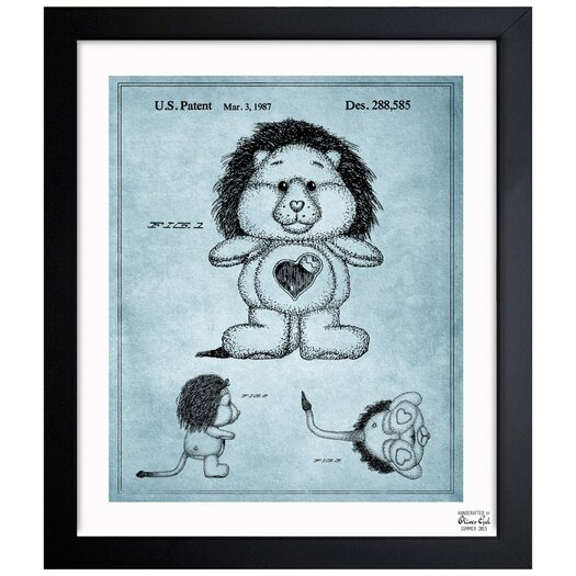 Carebears -�Brave Heart Lion 1987 Framed Painting Print