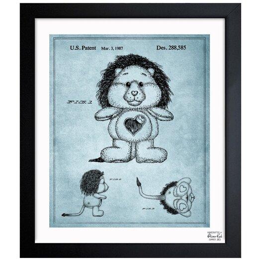 Carebears -�Brave Heart Lion 1987 Framed Painting Print