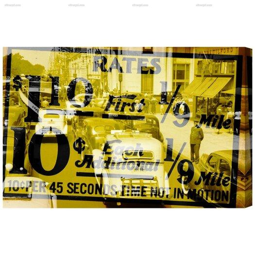 New York Cab Rates Graphic Art on Canvas