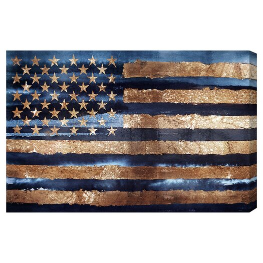 'Rocky Navy Freedom' Graphic Art on Canvas