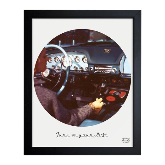 Oliver Gal Turn on your HiFi Framed Graphic Art