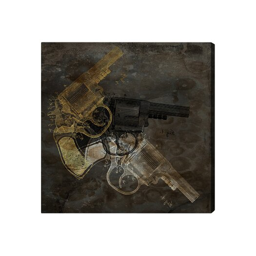 Oliver Gal ''Gold Revolver'' Graphic Art on Canvas
