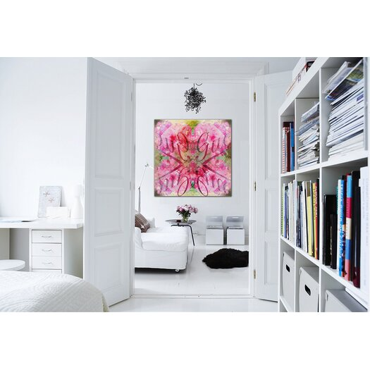 """Oliver Gal """"Efflorescent Bomb"""" Graphic Art on Canvas"""