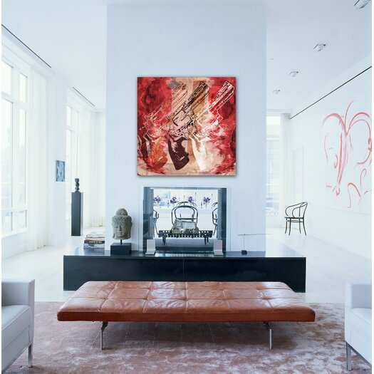 Oliver Gal ''Guns and Roses'' Graphic Art on Canvas