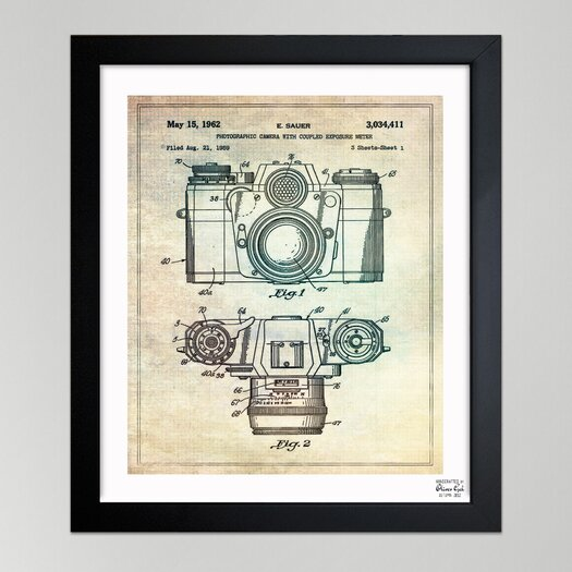 Oliver Gal ''Sauer Photographic Camera, 962'' Framed Graphic Art