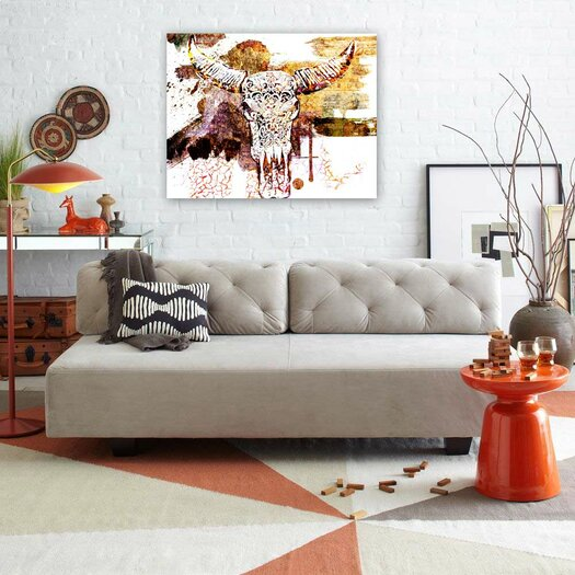 Oliver Gal ''Skull Bomb'' Graphic Art on Canvas