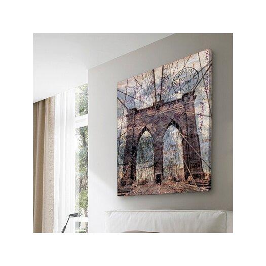 "Oliver Gal ""Brooklyn Bridge"" Graphic Art on Canvas"