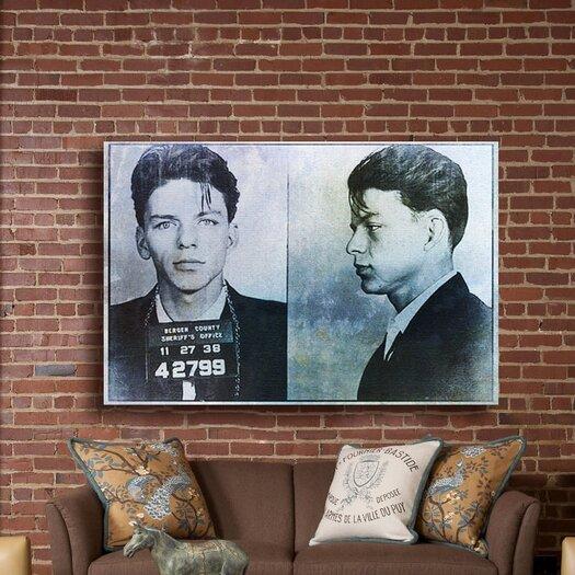 Oliver Gal Frank Sinatra Mugshot Graphic Canvas Art
