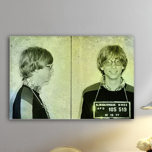 Oliver Gal ''Bill Gates Mugshot'' Graphic Art on Canvas