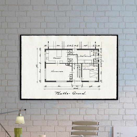 "Oliver Gal ""Dessins Architecturaux II"" Graphic Art on Canvas"