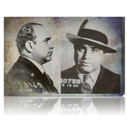 ''Al Capone Mugshot'' Graphic Art on Canvas