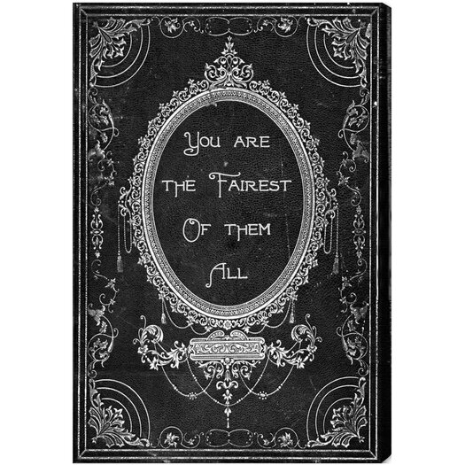 Oliver Gal The Fairest Textual Canvas Art