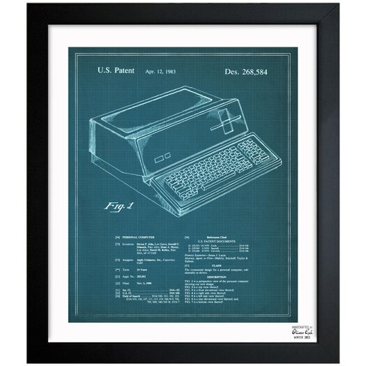 Oliver Gal First Apple Personal Computer 1983 Framed Graphic Art
