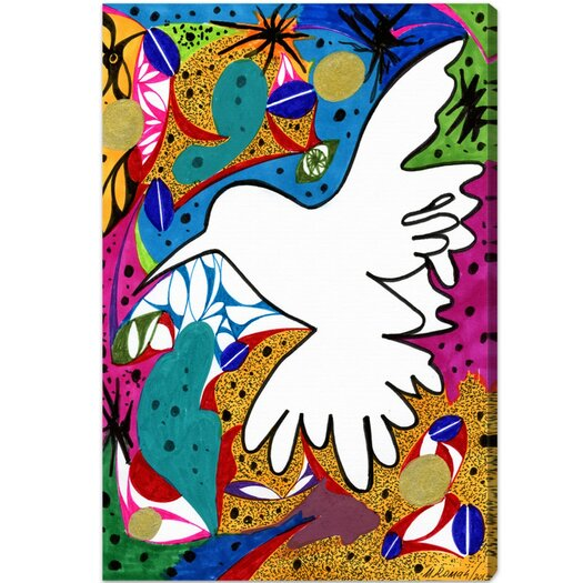 Hummingbird of Peace Graphic Art on Canvas