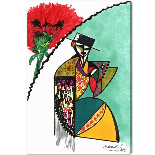 Flamenca Graphic Art on Canvas
