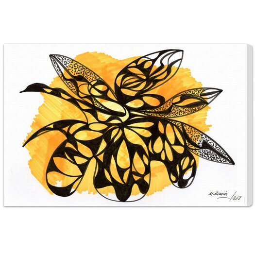 Beehive Graphic Art on Canvas