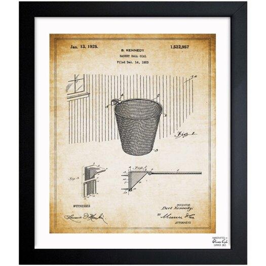 Basketball Hoop 1925 Framed Graphic Art