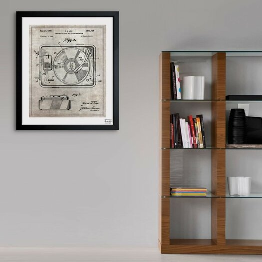 Oliver Gal Combination Sound and Picture 1950 Framed Graphic Art