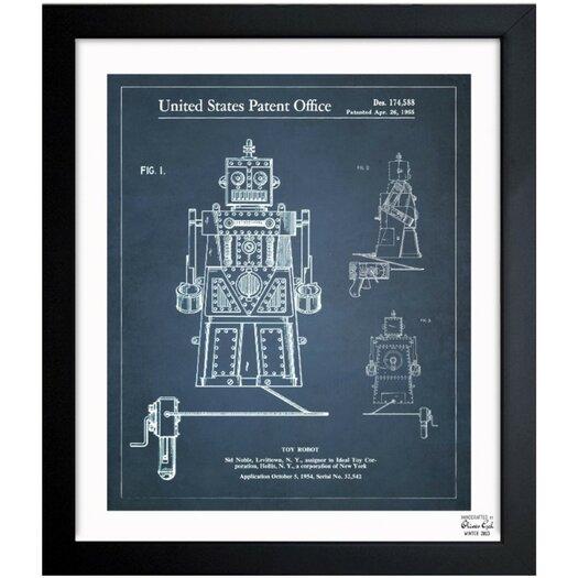Oliver Gal Toy Robot Ideal Robert 1955 Framed Graphic Art
