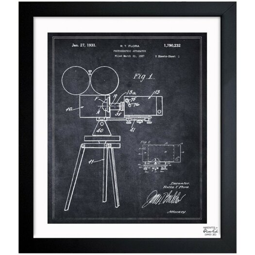 Photographic Apparatus 1931 Framed Graphic Art