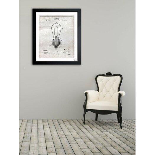 Oliver Gal Edison Electric Lamp 1882 Framed Graphic Art