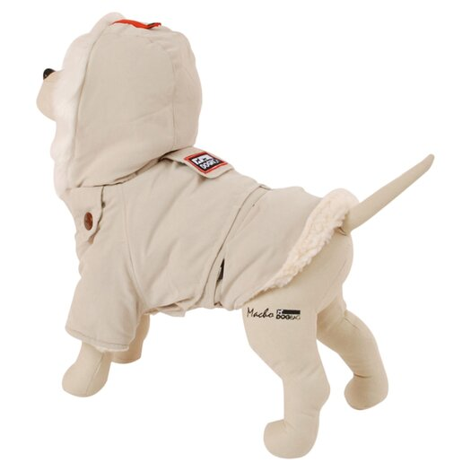 PetEgo Alaskan Dog Coat with Faux Fur-Lined Hood in Cream