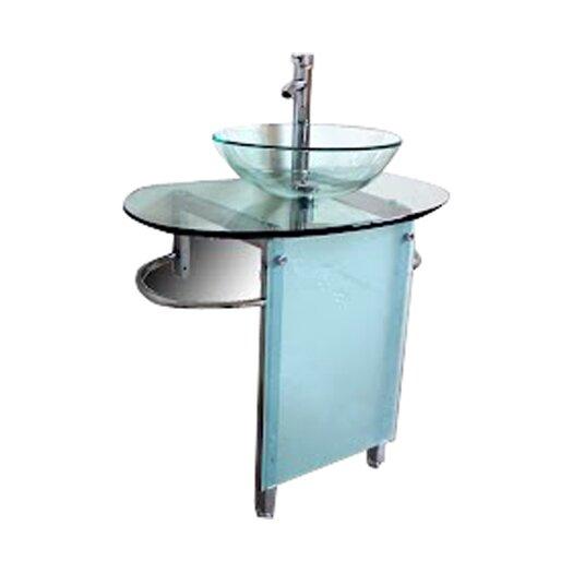 "Kokols 30"" Pedestal Bathroom Vanity Set"