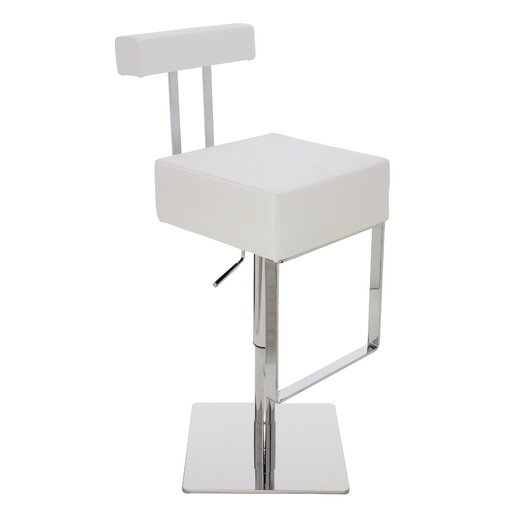 Aria Adjustable Height Bar Stool with Cushion