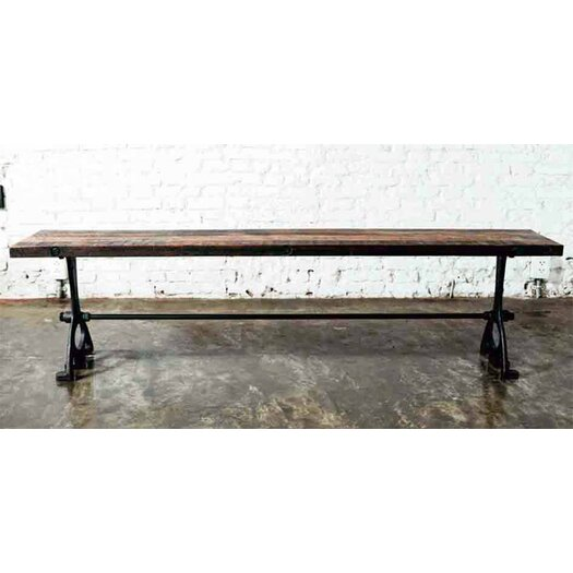 Metal Foyer Bench : Nuevo v metal wood entryway bench