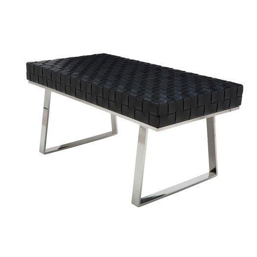 Nuevo Karlee Jr. Leather Bench