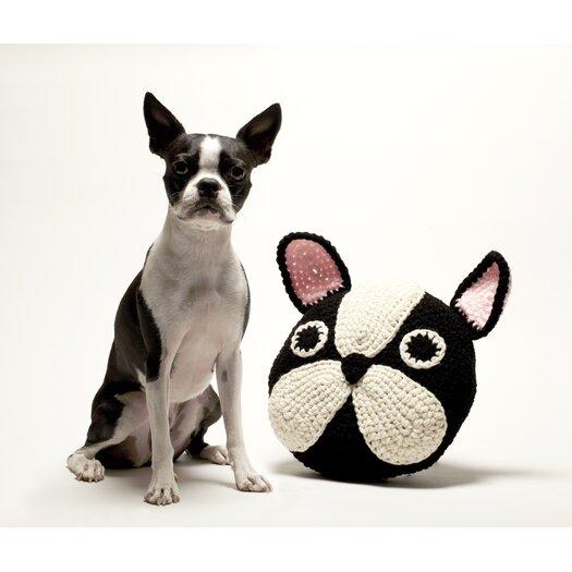Peanut Butter Dynamite Crochet Boston Terrier / Frenchie Throw Pillow