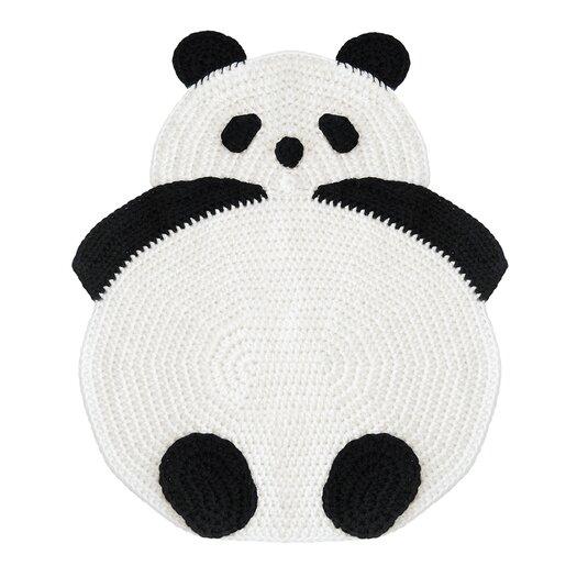 Peanut Butter Dynamite Crochet Panda Kids Rug