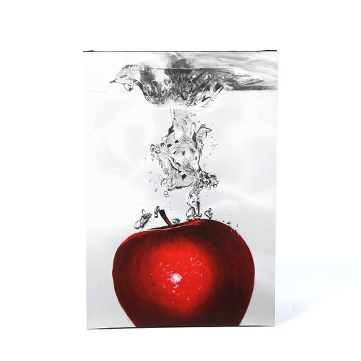 Trademark Fine Art 'Red Apple Splash' by Roderick Stevens Photographic Print on Canvas
