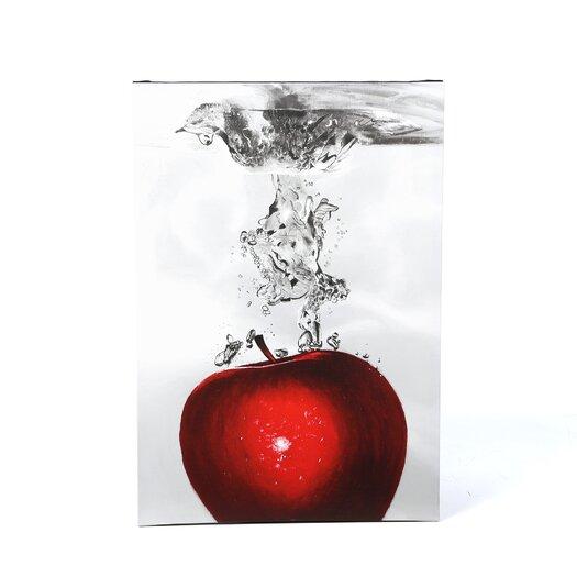 Trademark Fine Art 'Red Apple Splash' by Roderick Stevens Photographic Print on Canvas
