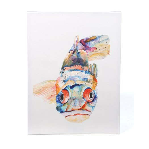 """Trademark Fine Art """"Blue Fish"""" by Pat Saunders-White Painting Print on Canvas"""