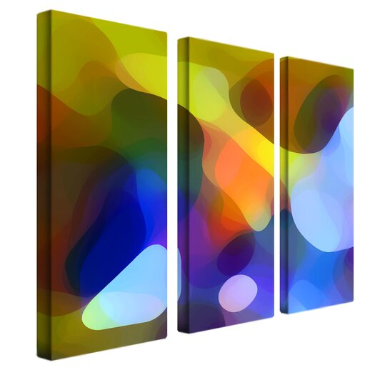 "Trademark Fine Art ""Dappled Light and Shade"" by Amy Vangsgard Painting Print 3 Panel Art Set"