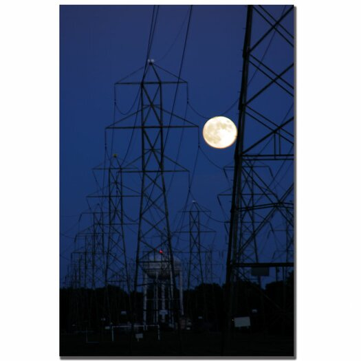 Trademark Fine Art 'Full Moon Power' by Kurt Shaffer Photographic Print on Canvas