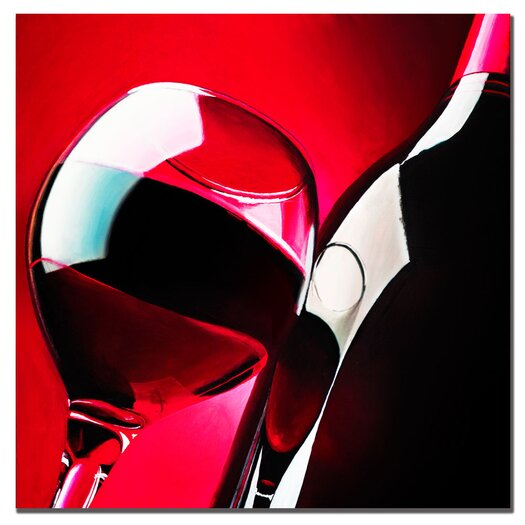 "Trademark Fine Art ""Red Wine"" by Roderick Stevens Photographic Print on Canvas"