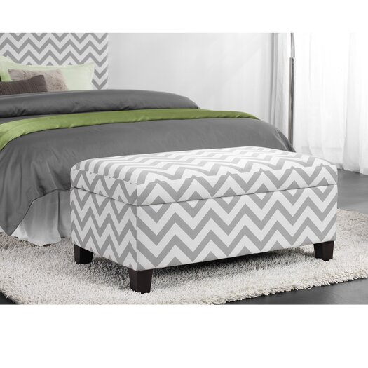 Dorel Living Chevron Ottoman