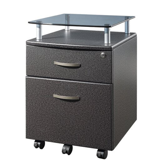 Techni Mobili 2 Drawer Mobile File Cabinet