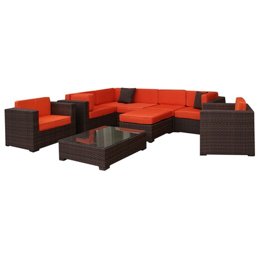 International Home Miami Southampton 9 Piece  Deep Seating Group